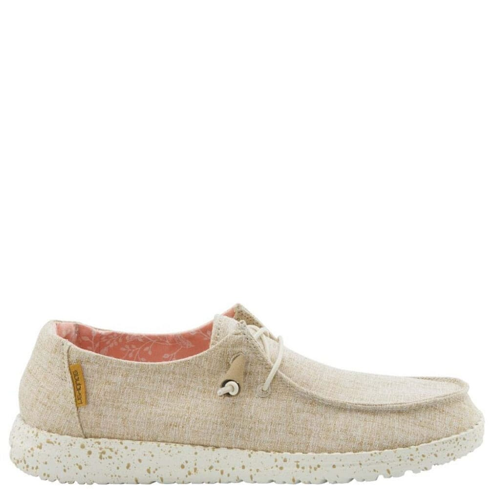 Image for Hey Dude Women's Wendy Chambray Casual Shoes - White Nut from bootbay