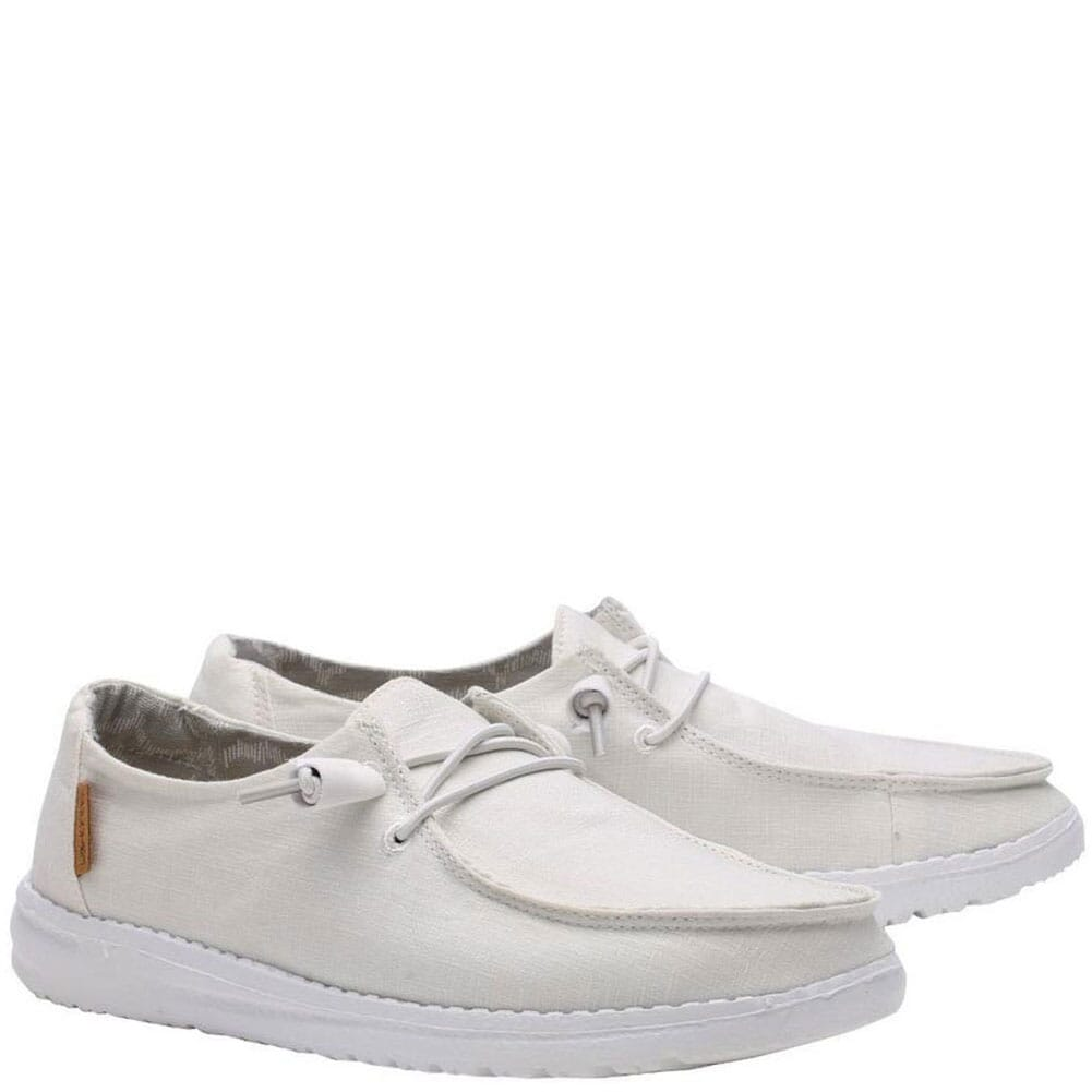 Image for Hey Dude Women's Wendy Casual Shoes - Chambray White from bootbay