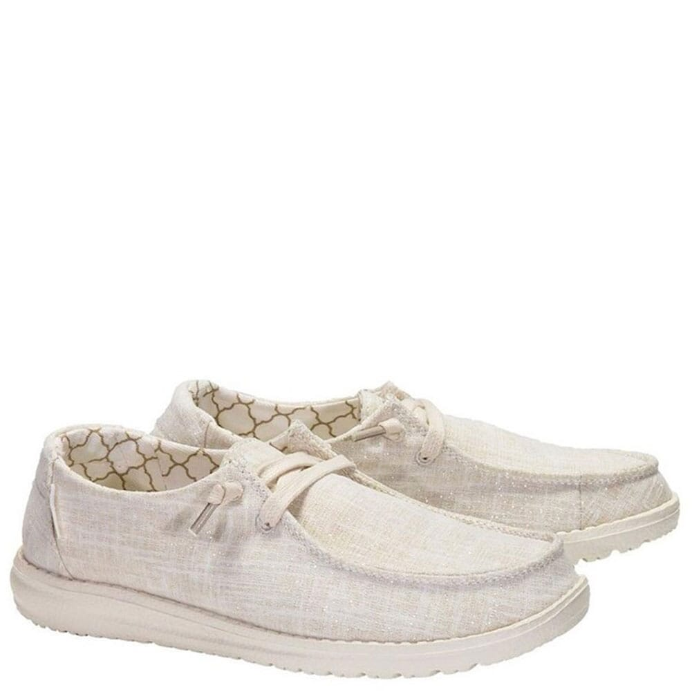 Image for Hey Dude Women's Wendy Sparkling Casual Shoes - Beige from bootbay