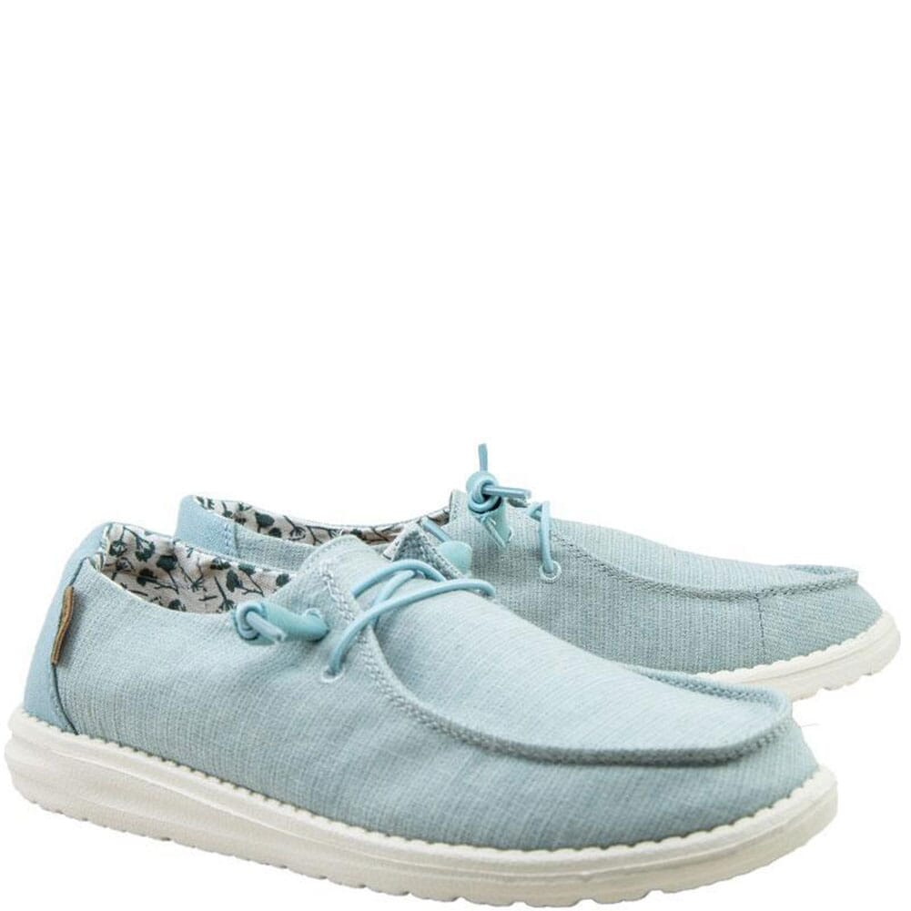 Image for Hey Dude Women's Wendy Linen Casual Shoes - Chambray Azur from bootbay