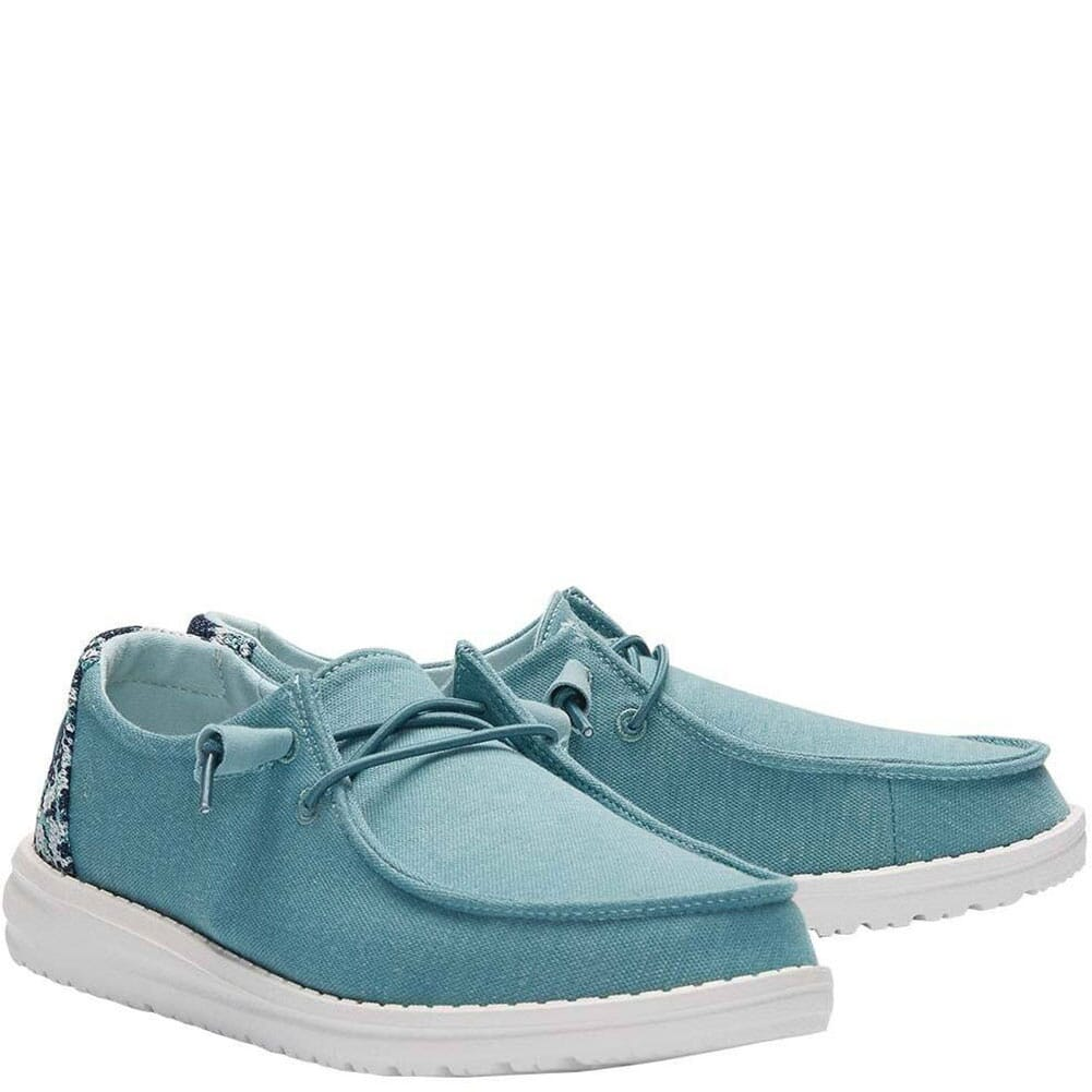 Image for Hey Dudes Women's Wendy Stretch Fleece Casual Shoes - Sea Blue from bootbay