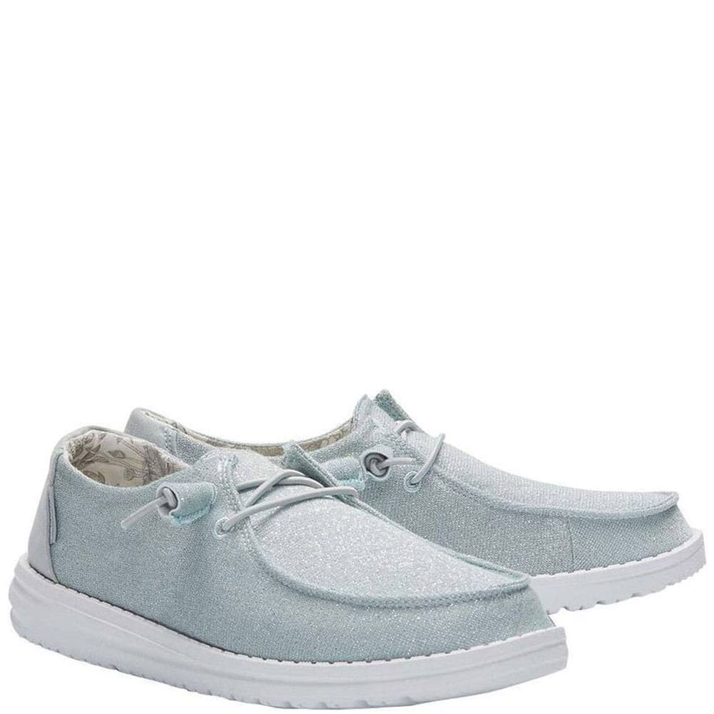 Image for Hey Dude Women's Wendy Sparkling Casual Shoes - Blue from bootbay