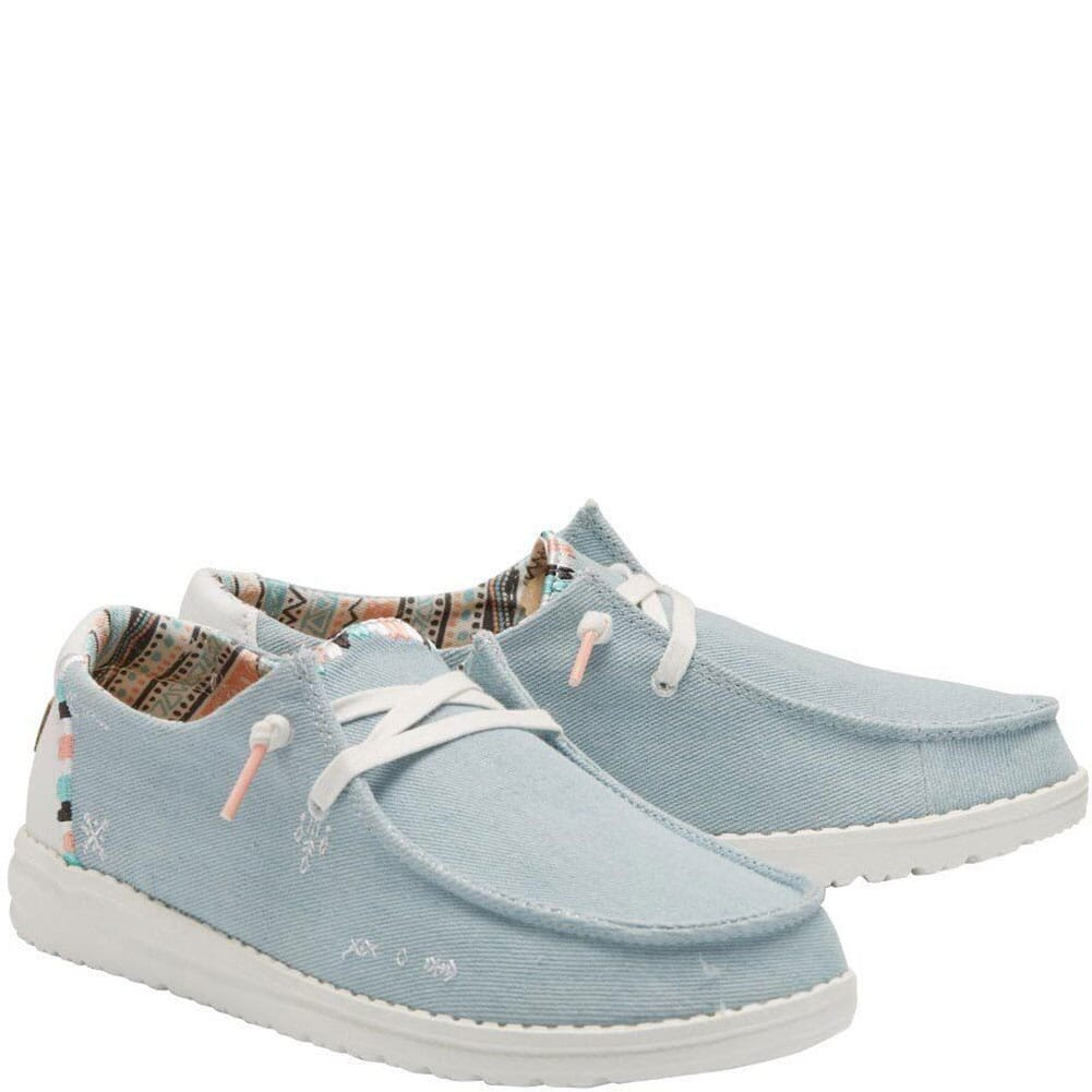 Image for Hey Dudes Women's Wendy Boho Casual Shoes - Light Denim from bootbay