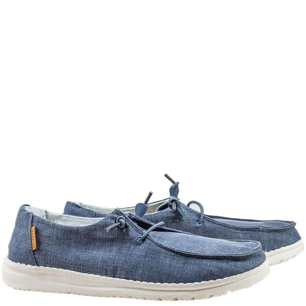 Image for Hey Dude Women's Wendy Casual Shoes - Navy White from bootbay