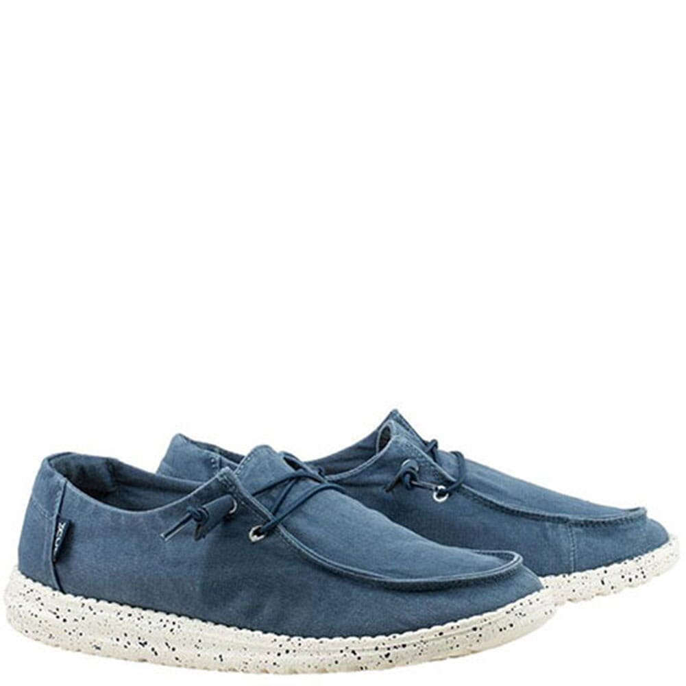 Image for Hey Dude Women's Wendy Casual Shoes - Steel Blue from bootbay