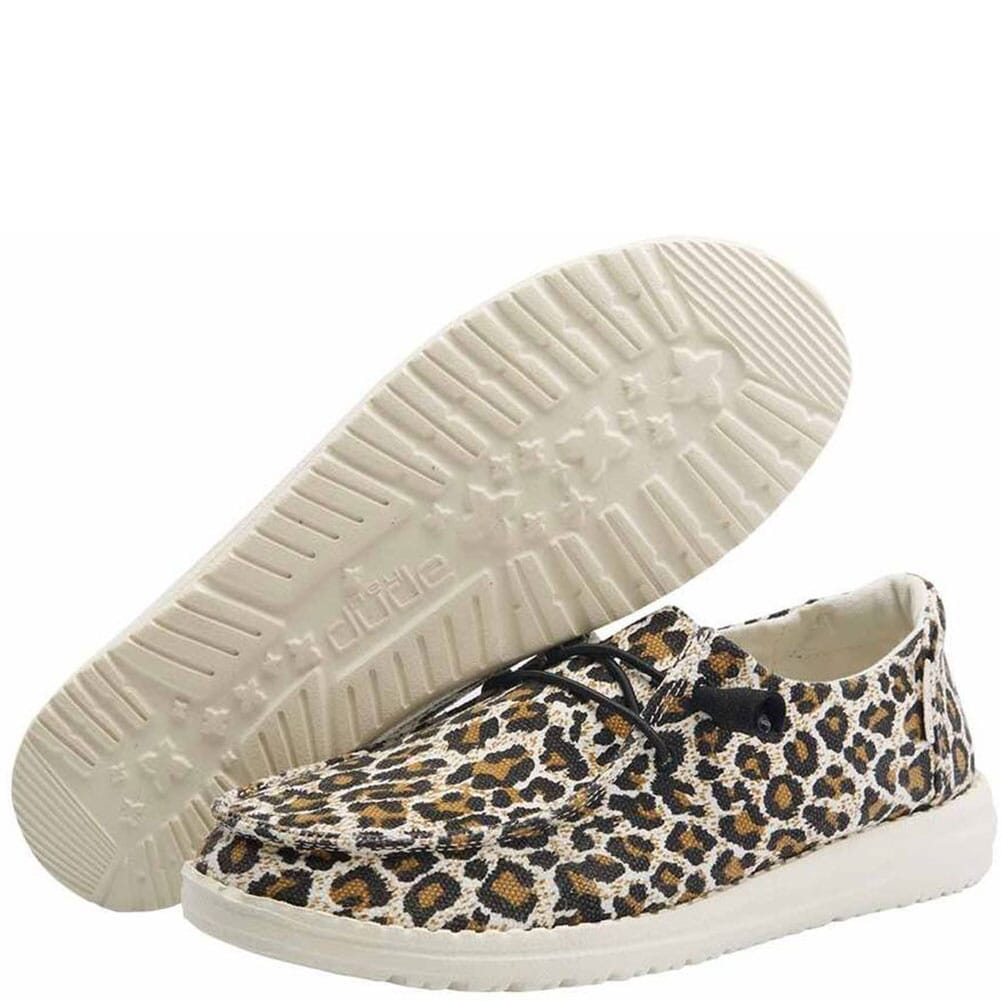 Image for Hey Dude Women's Wendy Woven Casual Shoes - Cheetah from bootbay