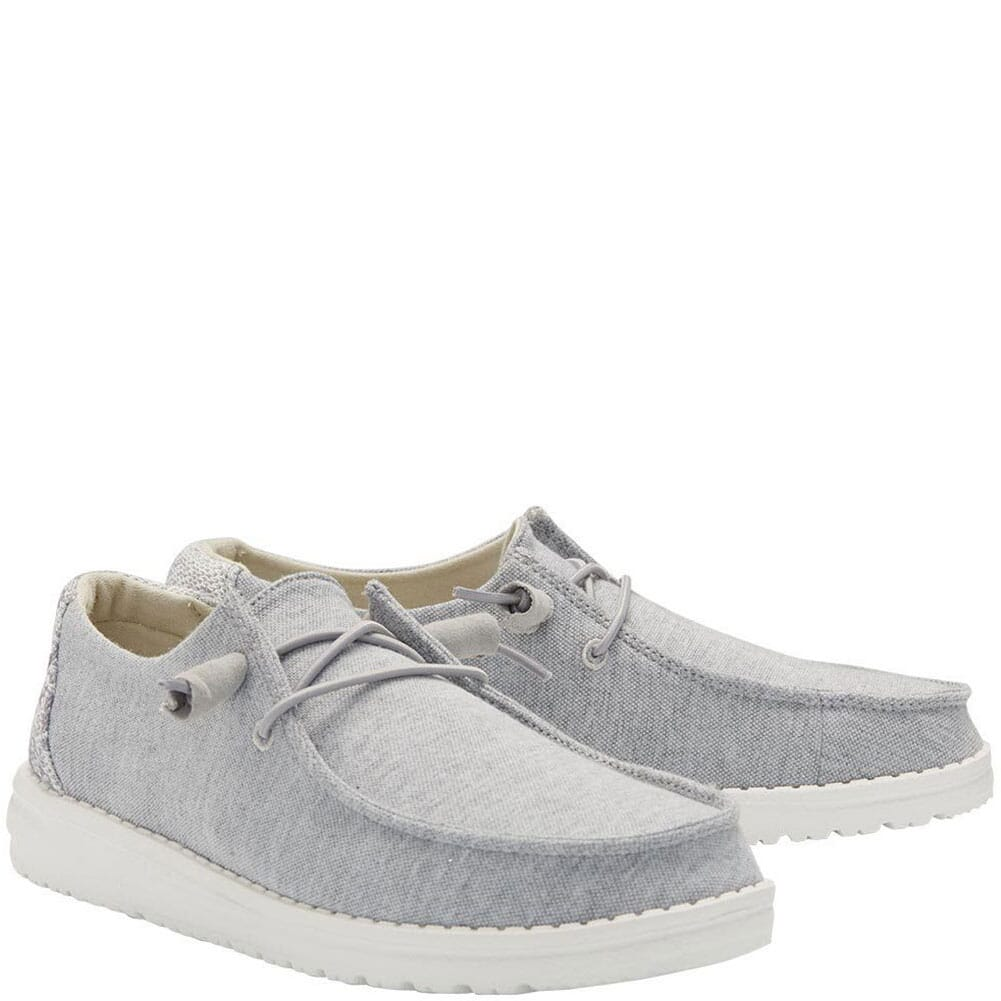Image for Hey Dudes Women's Wendy Stretch Fleece Casual Shoes - Glacier Grey from bootbay