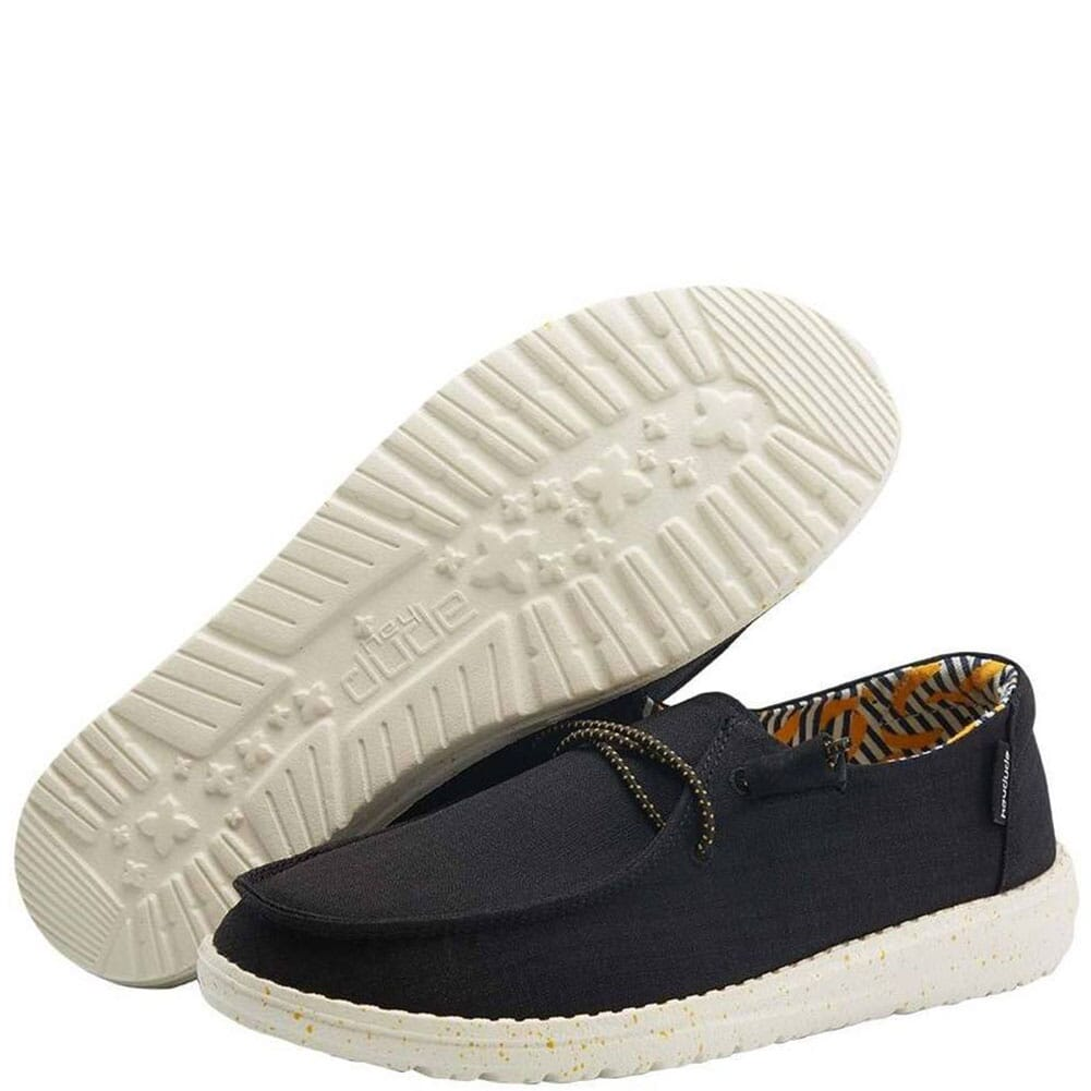 Image for Hey Dude Women's Wendy Stretch Casual Shoes - Black Banana from bootbay