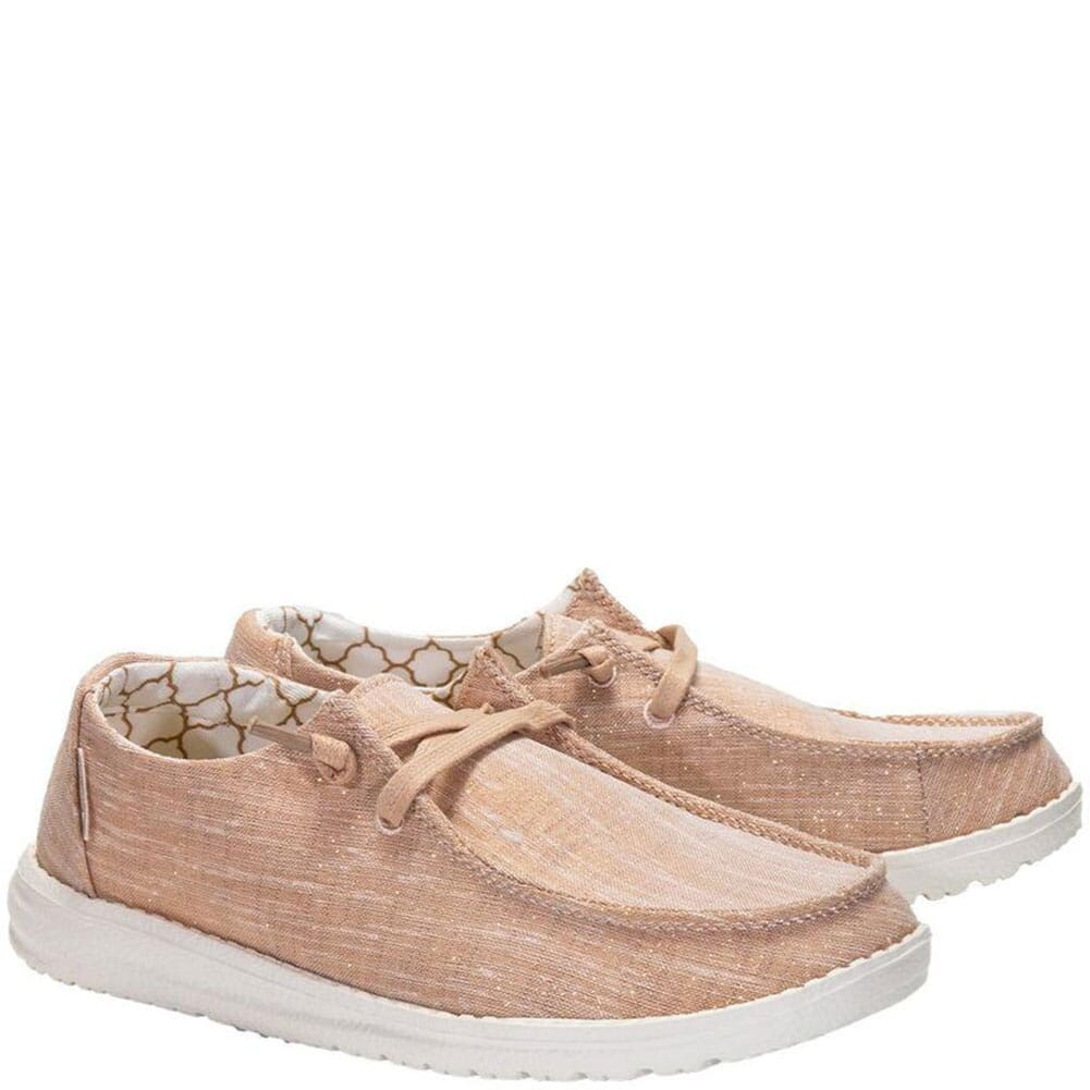 Image for Hey Dude Women's Wendy Sparkling Casual Shoes - Rose Gold from bootbay