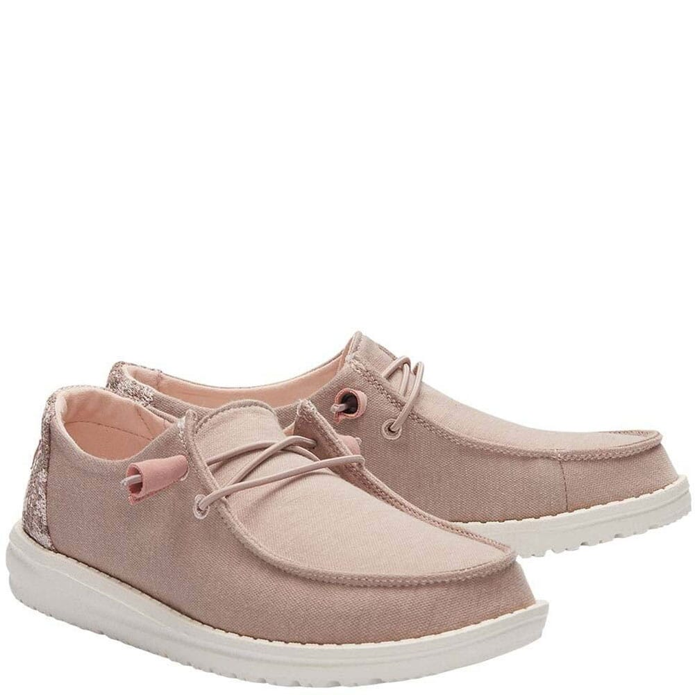 Image for Hey Dudes Women's Wendy Stretch Fleece Casual Shoes - Sepia Rose from bootbay