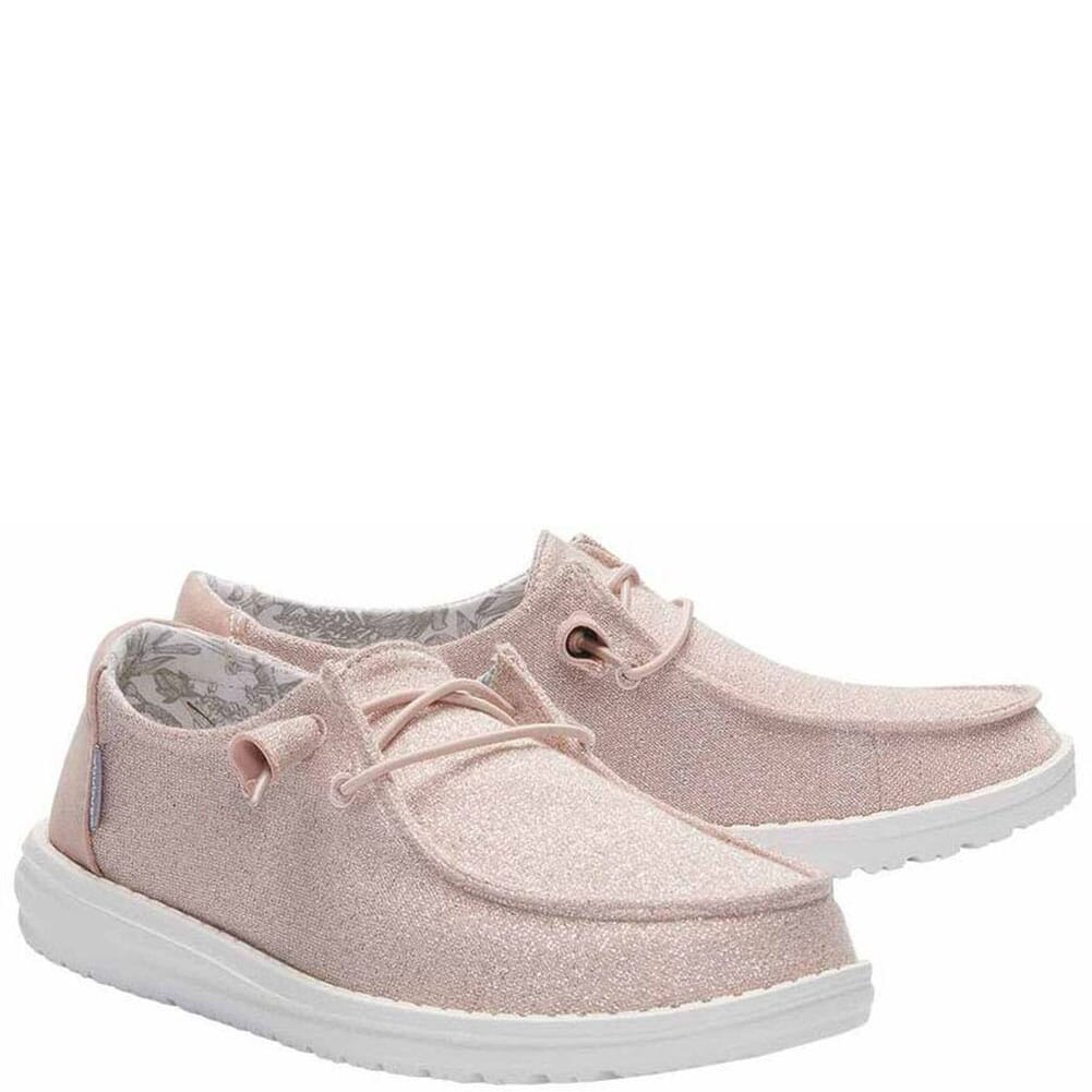 Image for Hey Dude Women's Wendy Sparkling Casual Shoes - Pink from bootbay
