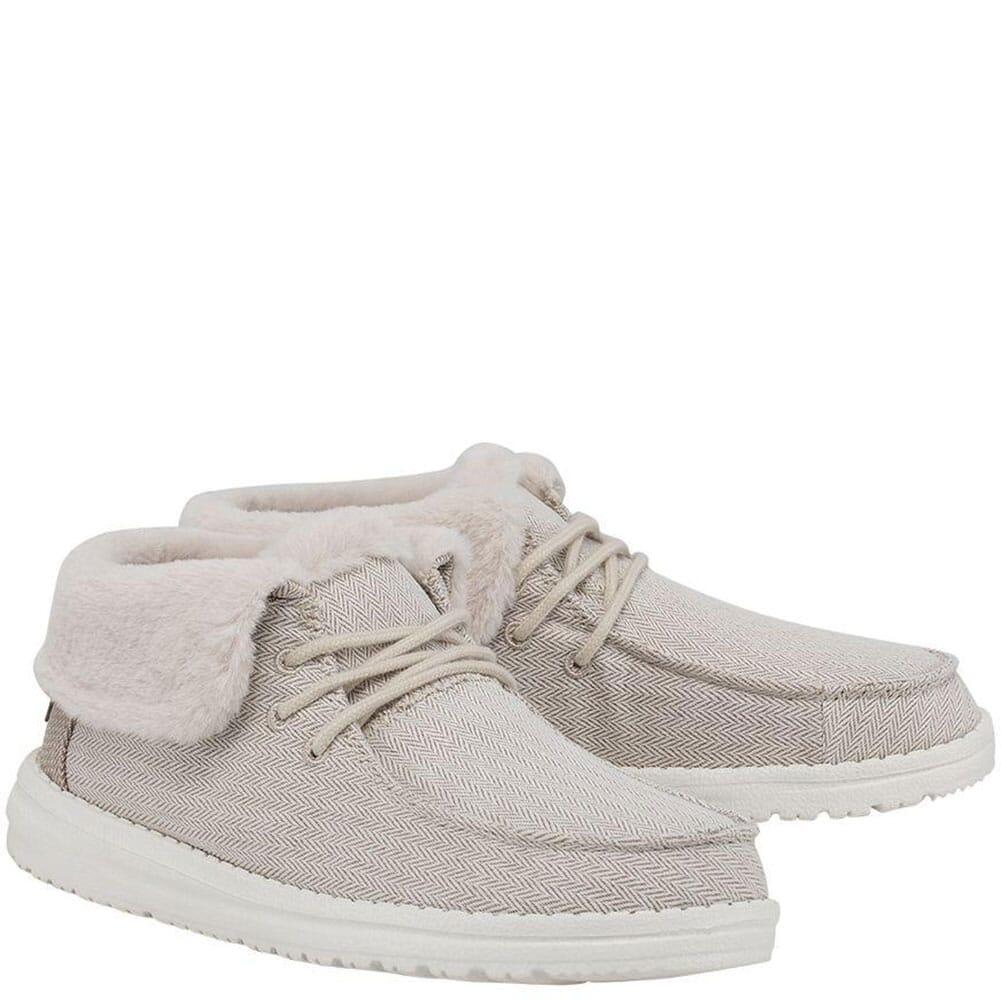Image for Hey Dude Women's Britt Wool Casual Shoes - Herringbone Cream from bootbay