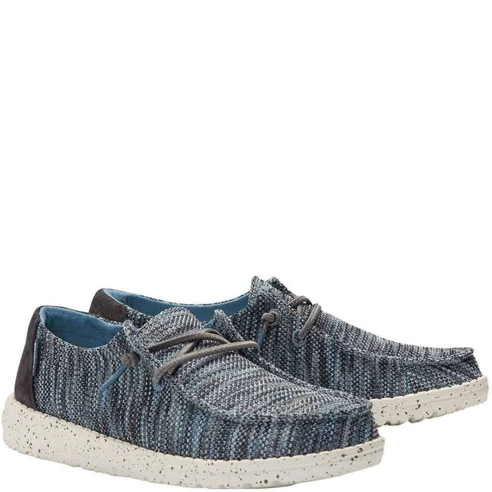 Image for Hey Dude Women's Wendy Sox Casual Shoes - Ice Blue from bootbay