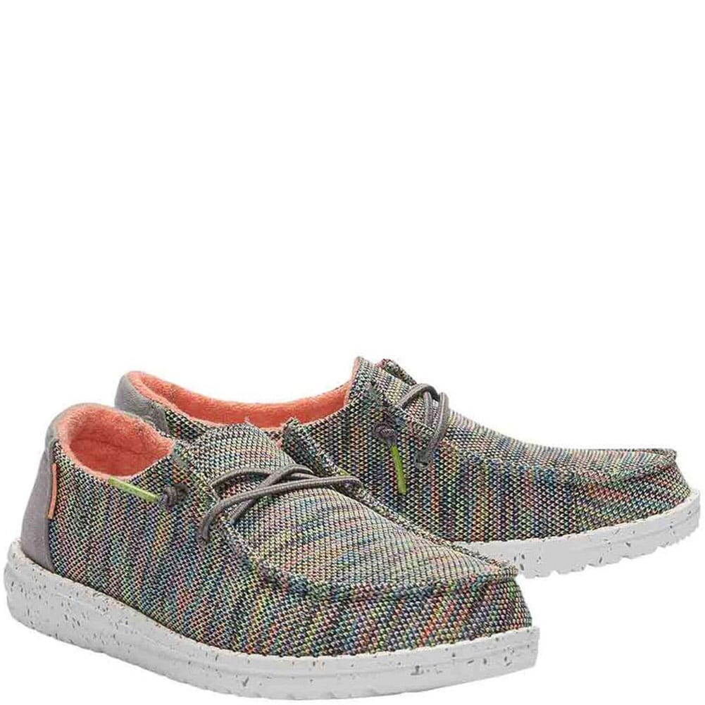 Image for Hey Dude Women's Wendy Sox Casual Shoes - Peacock Pink from bootbay