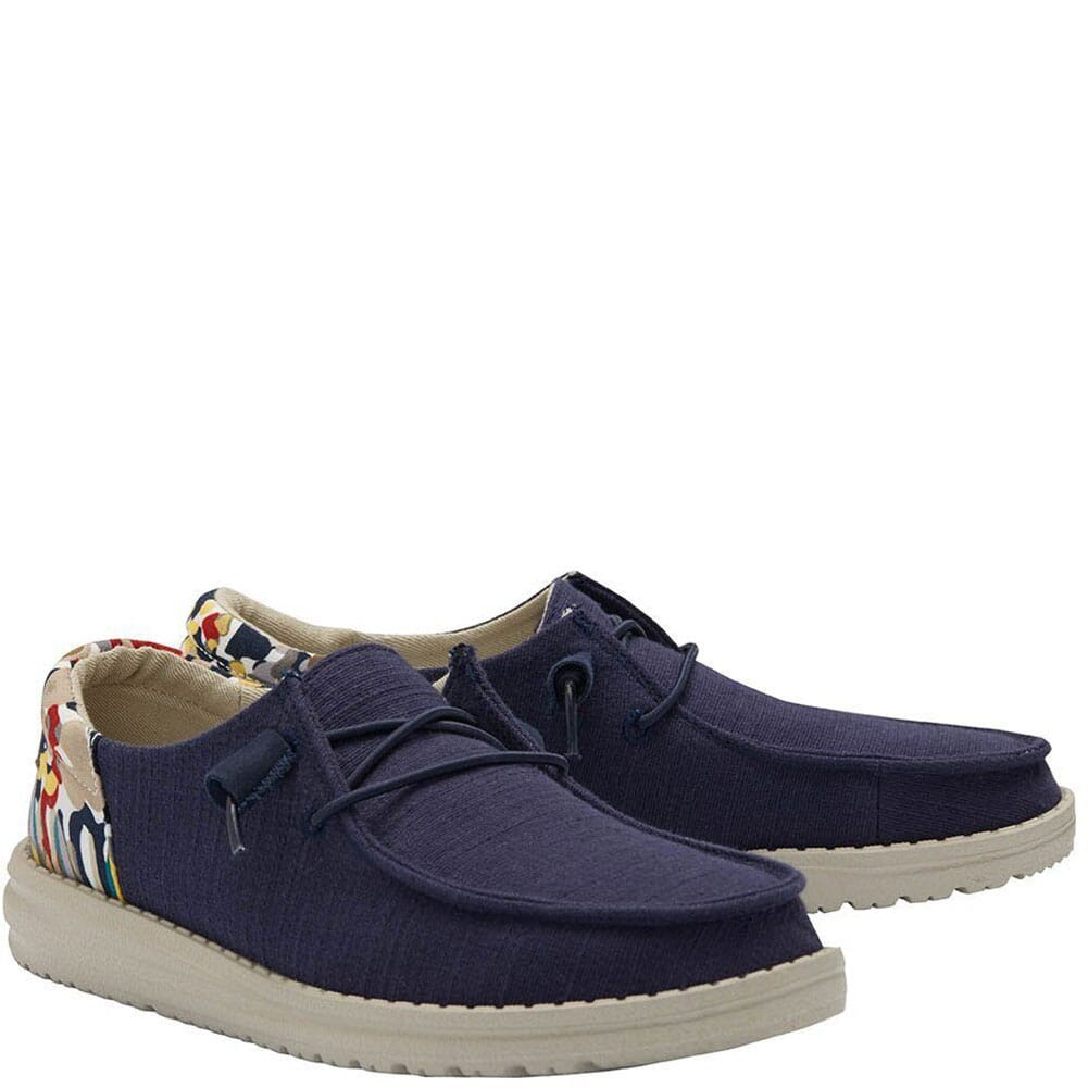 Image for Hey Dude Women's Wendy Funk Wool Casual Shoes - Chambray Navy from bootbay