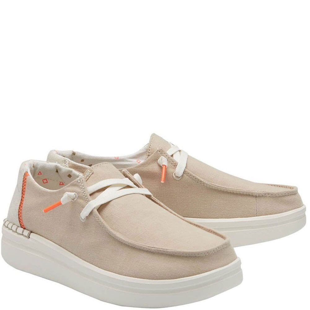 Image for Hey Dude Women's Wendy Rise Casual Shoes - Chambray Sandshell from bootbay