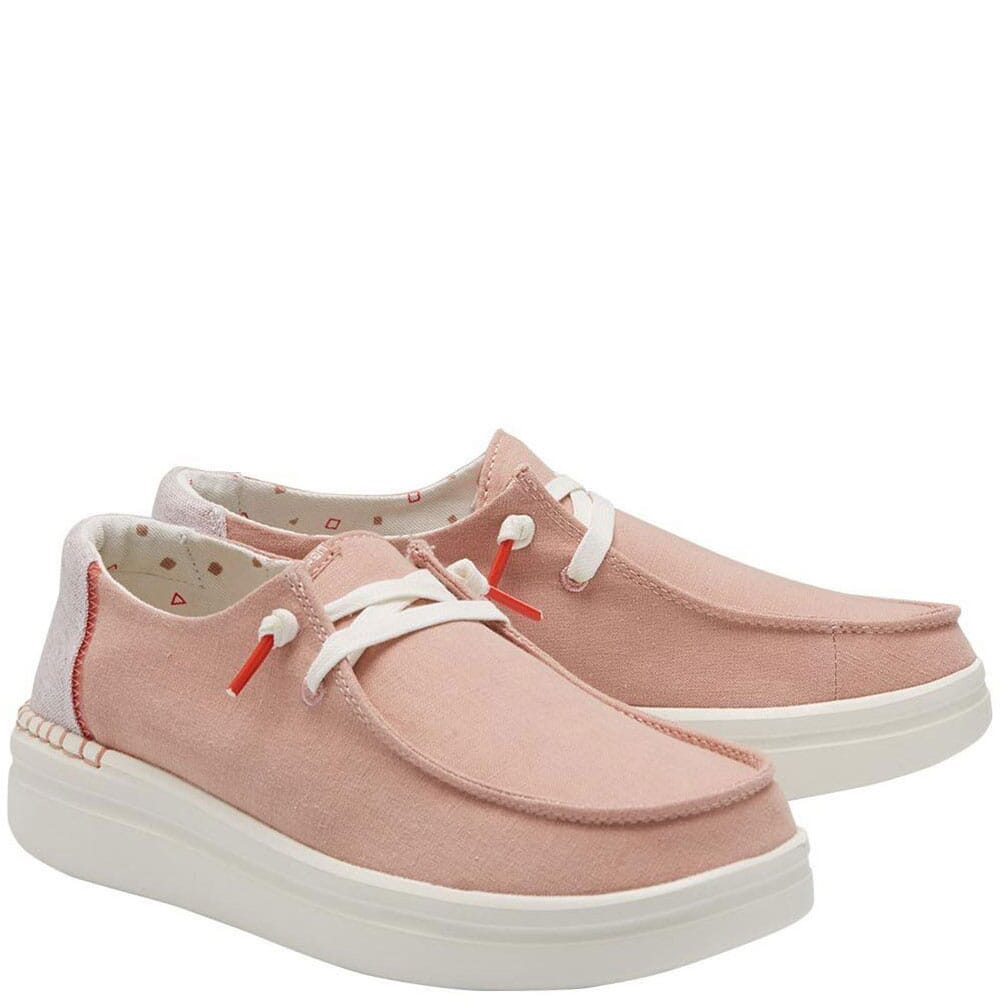 Image for Hey Dude Women's Wendy Rise Casual Shoes - Chambray Rose from bootbay