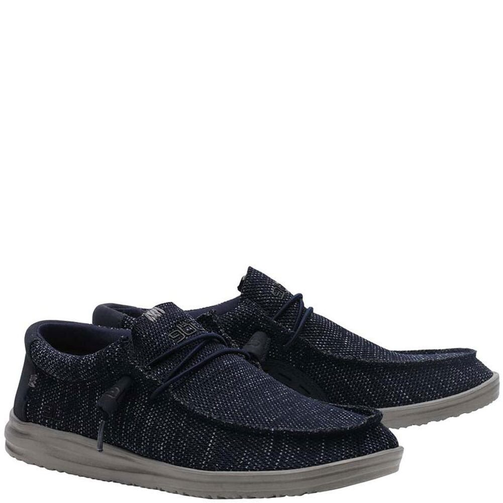 Image for Hey Dude Men's Wally Free Casual Shoes - Navy from bootbay