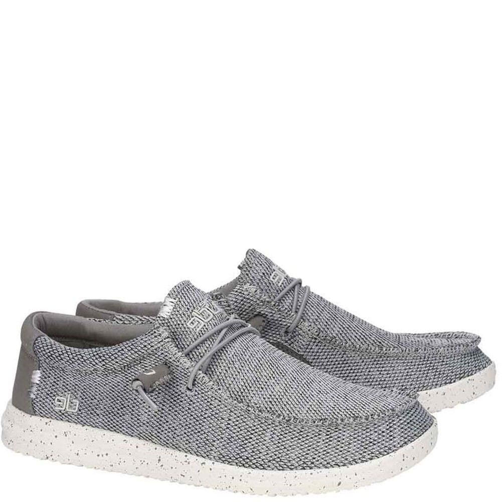 Image for Hey Dude Men's Wally Free Casual Shoes - Light Grey from bootbay
