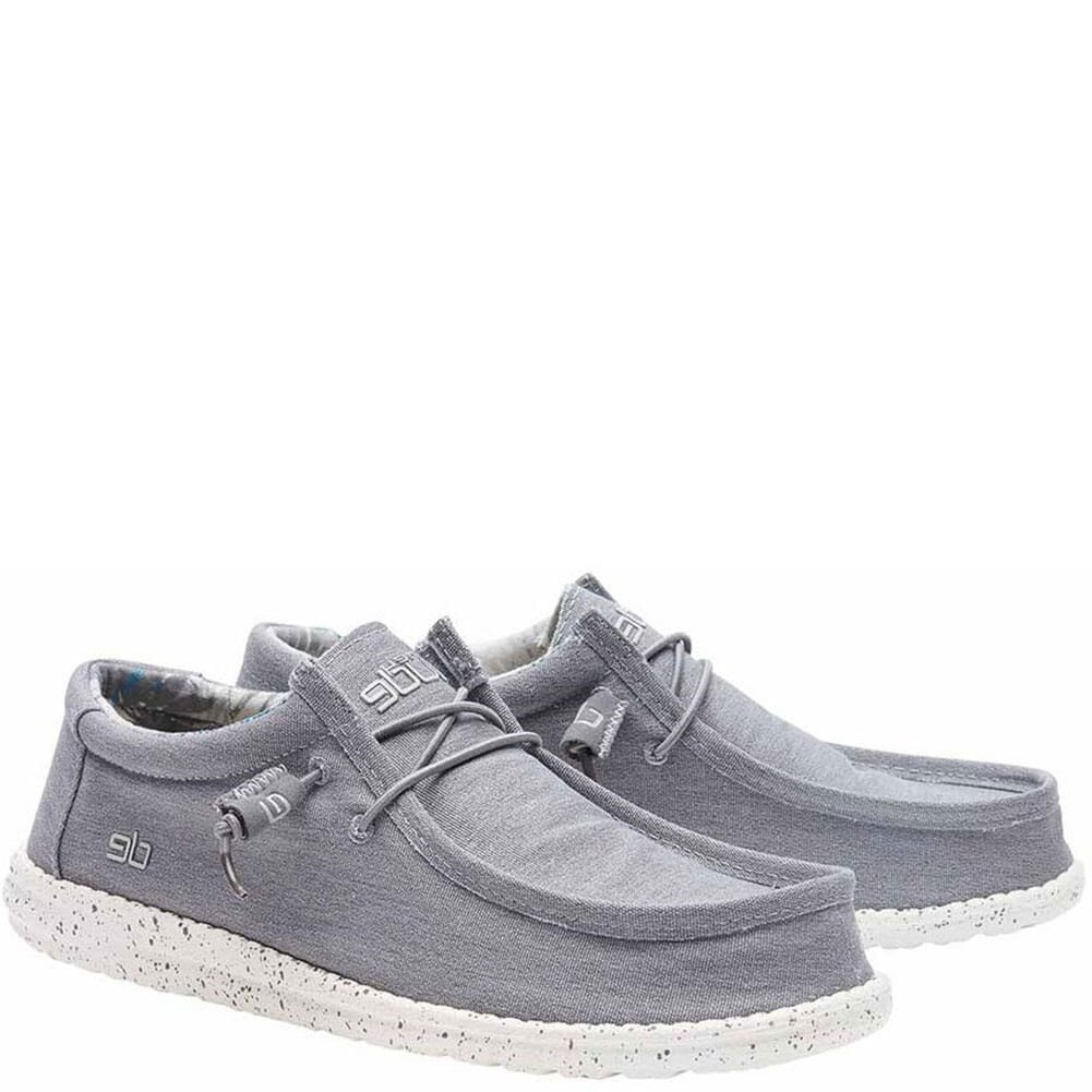 Image for Hey Dude Men's Wally Stretch Casual Shoes - Iron from bootbay