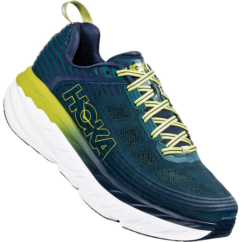 Image for Hoka One One Men's Bondi 6 Running Shoes - Deep Teal/Green from bootbay