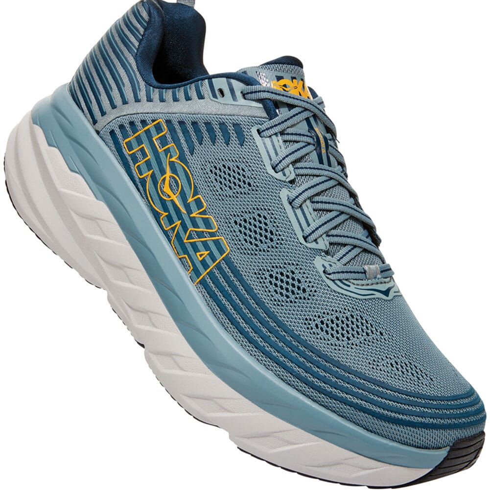 Image for Hoka One One Men's Bondi 6 Running Shoes - Lead/Blue from bootbay