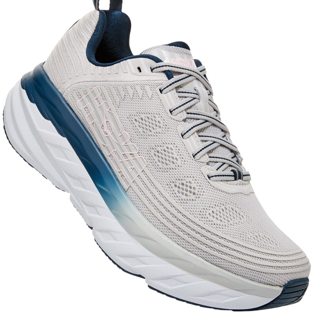 Image for Hoka One One Women's Bondi 6 Athletic Shoes - Lunar Rock/Nimbus Clo from elliottsboots