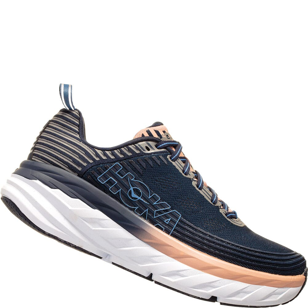 Image for Hoka One One Women's Bondi 6 Athletic Shoes - Mood Indigo/Dusty Pin from elliottsboots