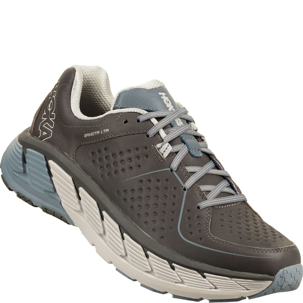 Image for Hoka One One Men's Gaviota Leather Running Shoes - Charcoal/Tradewi from bootbay