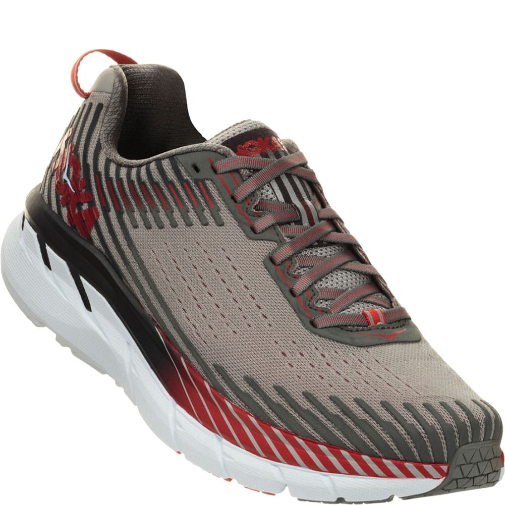 Image for Hoka One One Men's Clifton 5 Running Shoes -  Alloy/Steel Gray from bootbay