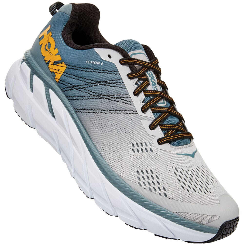 Image for Hoka One One Men's Clifton 6 Running Shoes - Lead/Lunar Rock from bootbay