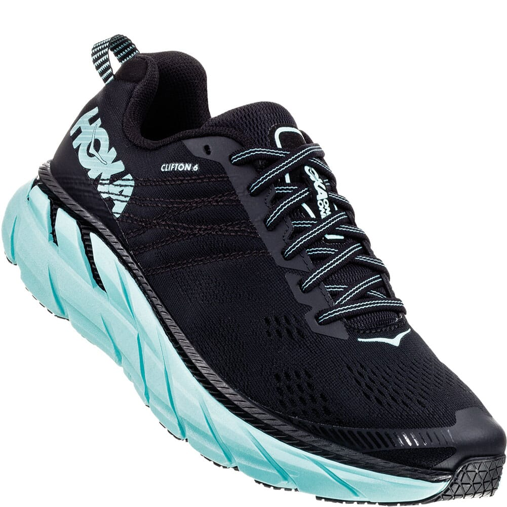 Image for Hoka One One Women's Clifton 6 Running Shoes - Black from bootbay