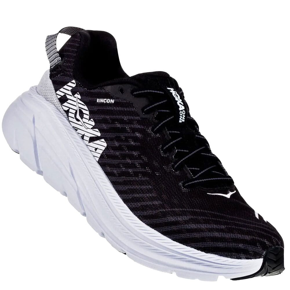 Image for Hoka One One Men's Rincon Running Shoes - Black/White from bootbay