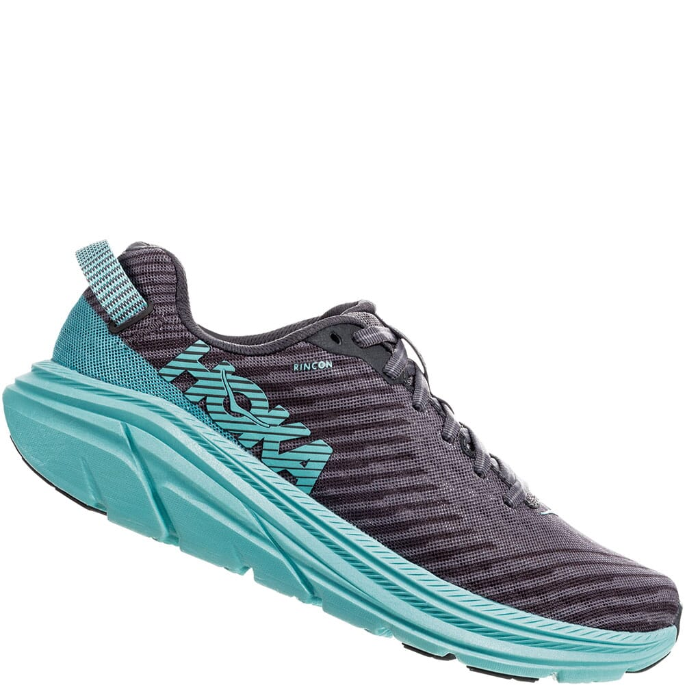 Image for Hoka One One Women's Rincon Running Shoes - Grey/Aqua from elliottsboots