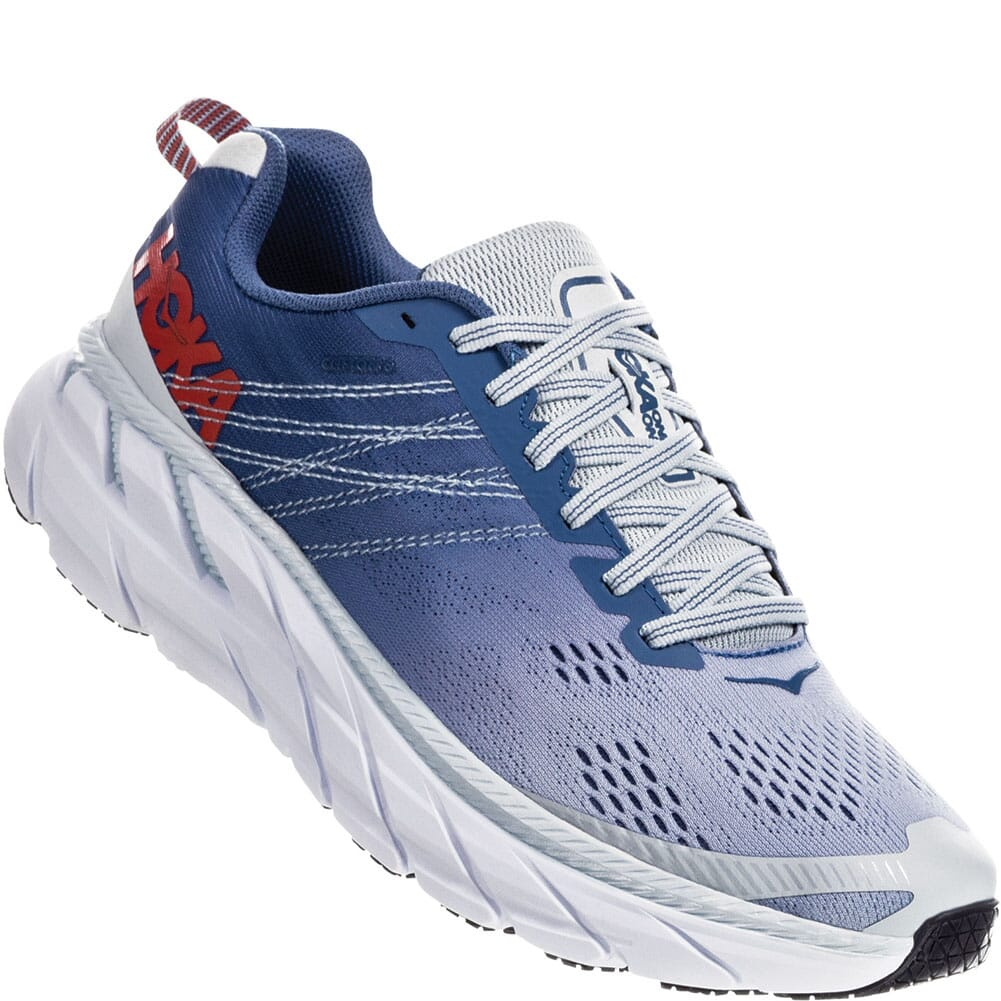 Image for Hoka One One Women's Clifton 6 Wide Running Shoes - Blue from bootbay