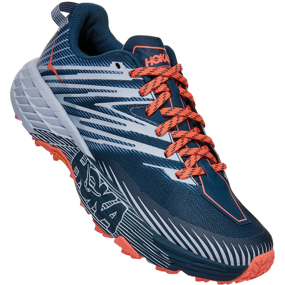Image for Hoka One One Women's Speedgoat 4 Athletic Shoes - Blue from elliottsboots