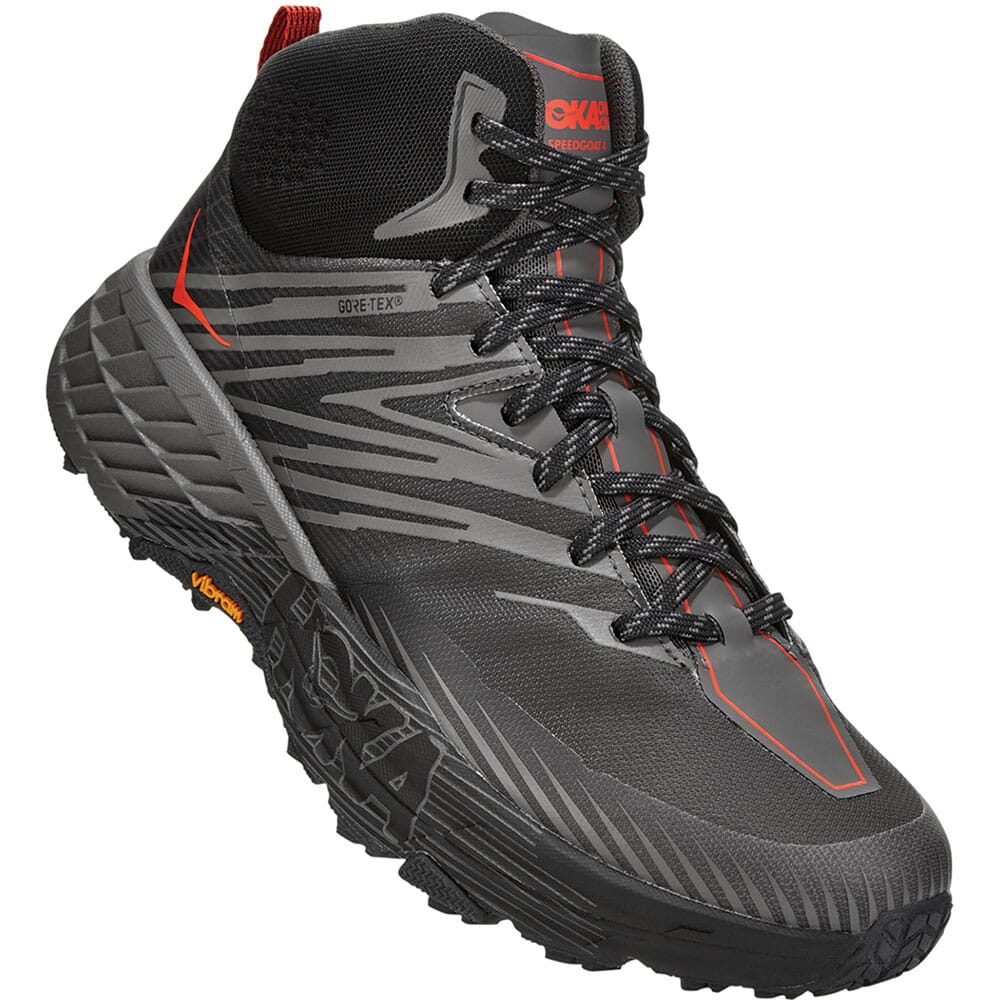Image for Hoka One One Men's Speedgoat Mid GTX 2 Hiking Boots - Anthracite from bootbay