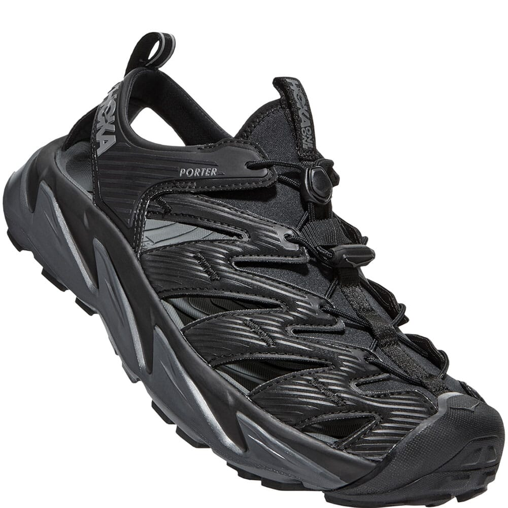 Image for Hoka One One Men's Hopara Sandals - Black/Dark Shadow from bootbay