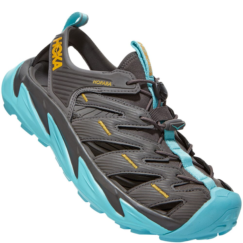 Image for Hoka One One Women's Hopara Sandals - Black/Blue from bootbay