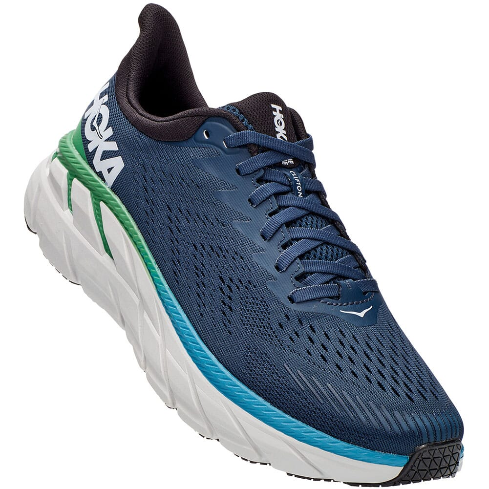 Image for Hoka One One Men's Clifton 7 Running Shoes - Moonlit Ocean/Anthraci from bootbay