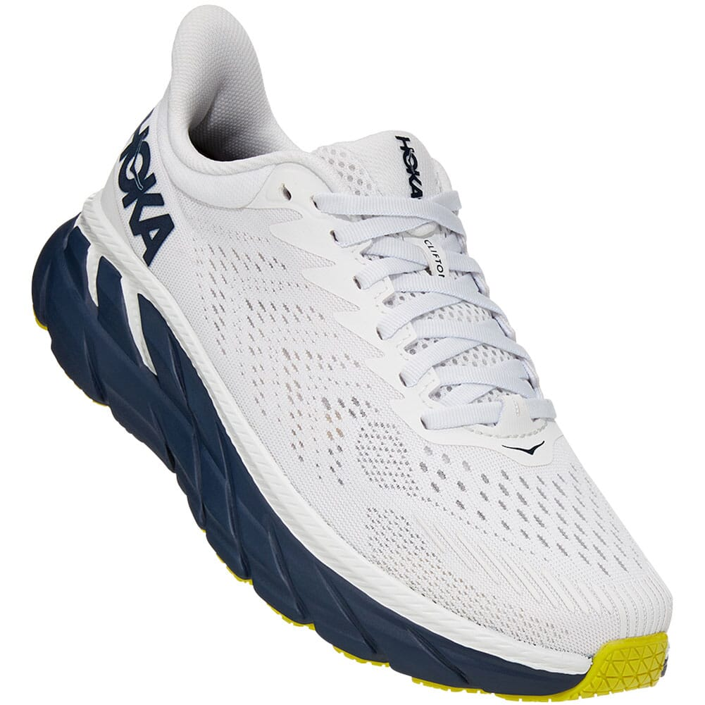 Image for Hoka One One Women's Clifton 7 Running Shoes - Blanc de Blanc/Blac from bootbay
