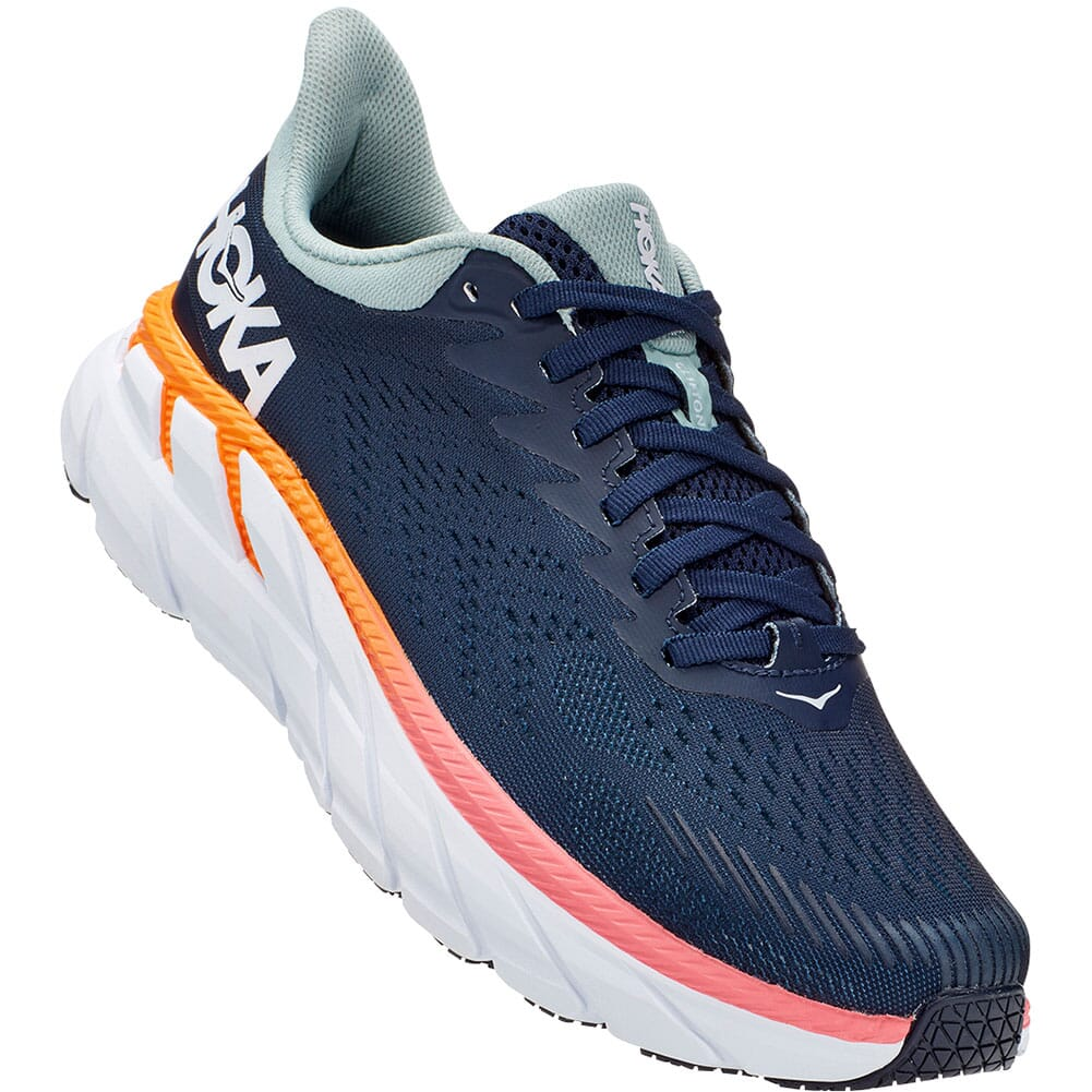 Image for Hoka One One Women's Clifton 7 Running Shoes - Black Iris/Blue Haze from elliottsboots