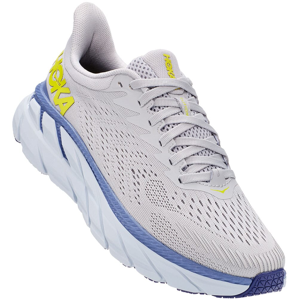 Image for Hoka One One Women's Clifton 7 Running Shoes - Lunar Rock/Nimbus Cl from elliottsboots