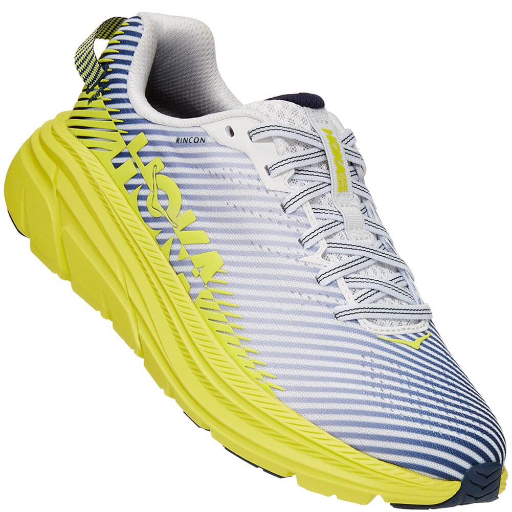 Image for Hoka One One Women's Rincon 2 Running Shoes - Blanc de Blanc/Citru from bootbay