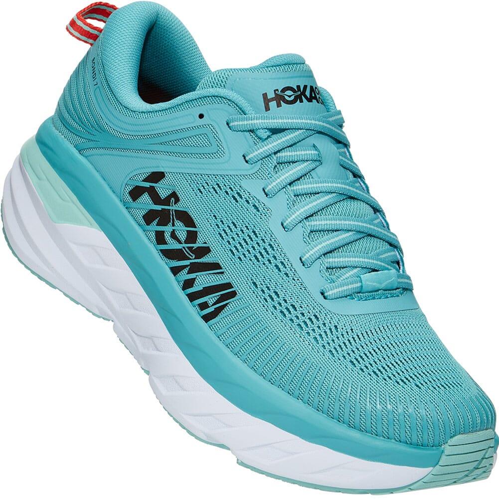 Image for Hoka One One Women's Bondi 7 Athletic Shoes - Aquarelle from bootbay