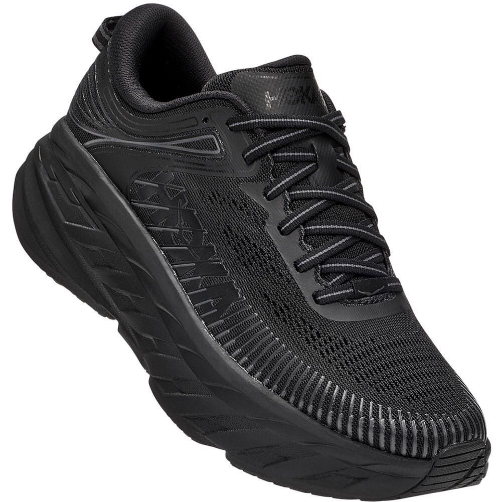 Image for Hoka One One Women's Bondi 7 Athletic Shoes - Black/Black from elliottsboots