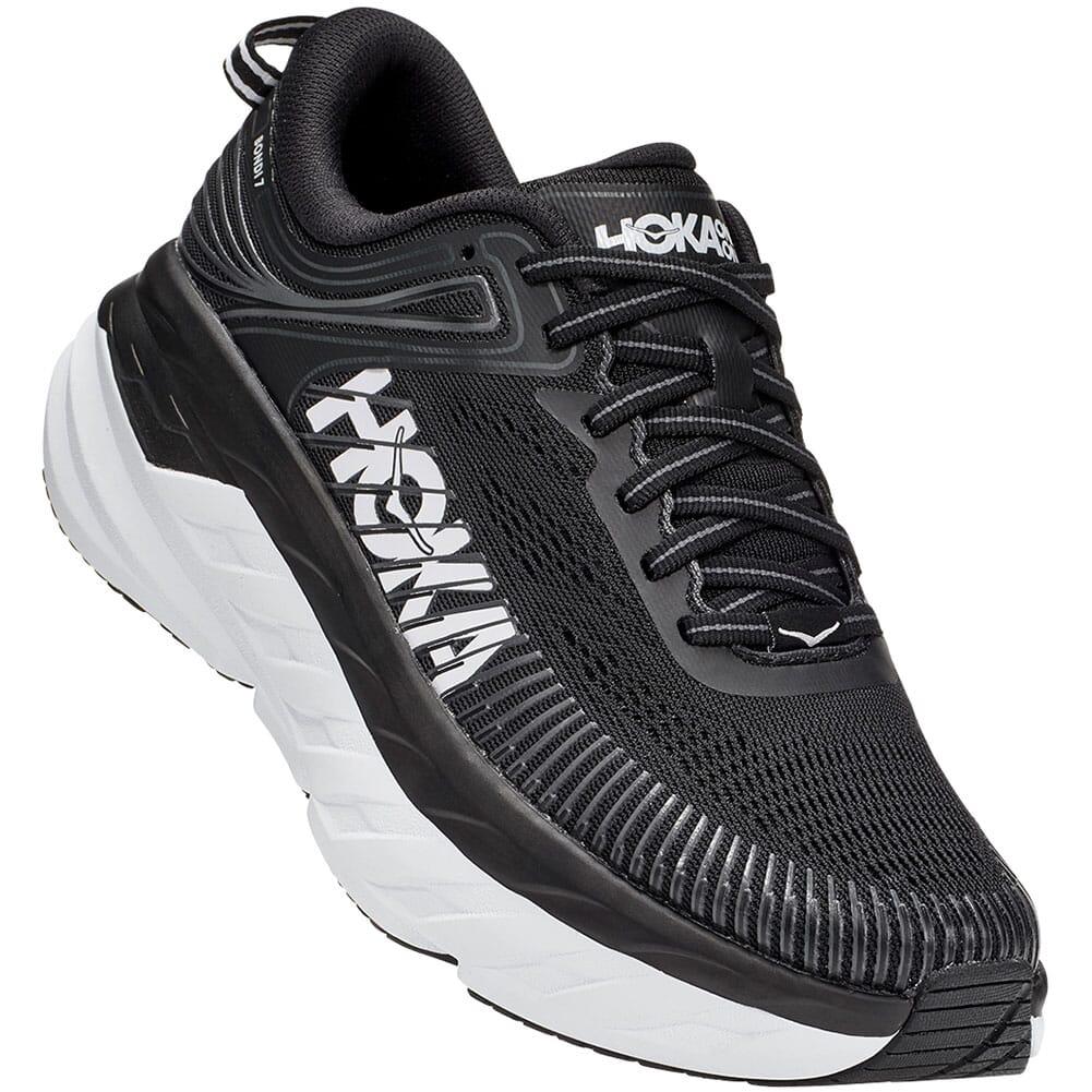 Image for Hoka One One Women's Bondi 7 Athletic Shoes - Black/White from bootbay
