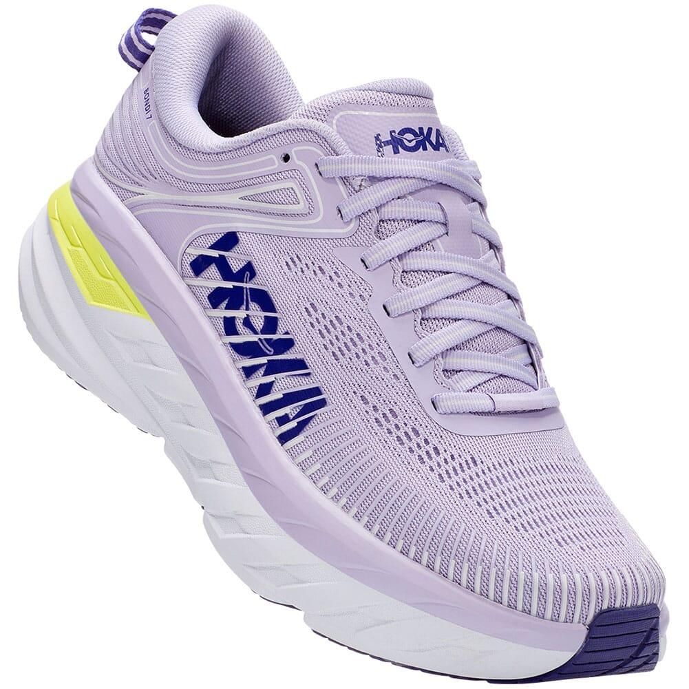 Image for Hoka One One Women's Bondi 7 Athletic Shoes - Purple/Blue from bootbay