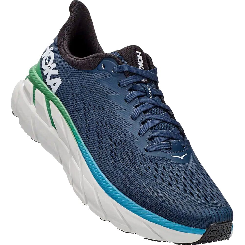 Image for Hoka One One MenÆs Clifton 7 Wide Running Shoes - Moonlit Ocean/Ant from bootbay