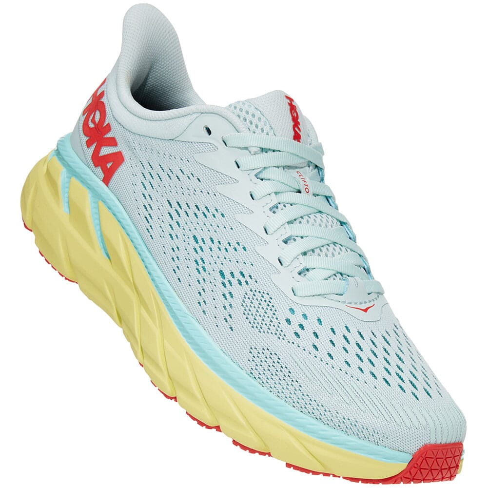 Image for Hoka One One Women's Clifton 7 Wide Running Shoes - Morning Mist from elliottsboots
